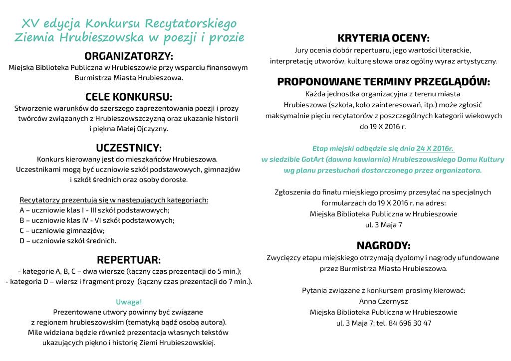 Konkursy Miejska Biblioteka Publiczna W Hrubieszowie